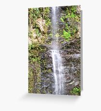 Oh so High Waterfall ! Greeting Card