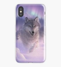 """Wolf Pack Running Wolves """"Northern Lights"""" iPhone Case/Skin"""