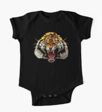 Tiger Roar Digital art Painting One Piece - Short Sleeve