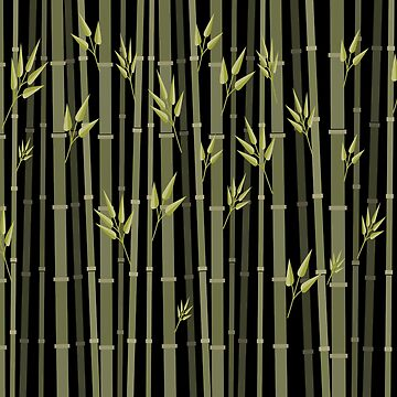 Bamboo Duvet Covers Field OF Bamboo At Night by CreatedProto