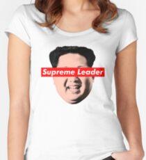 Oberste Führer Un - Kim Jong Un Parodie T-Shirt Tailliertes Rundhals-Shirt