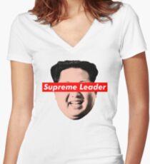 Supreme Leader Un - Kim Jong Un Parody T-Shirt Women's Fitted V-Neck T-Shirt