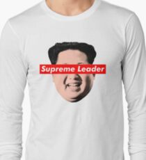 Camiseta de manga larga Supreme Leader Un - Kim Jong Un Parody Camiseta