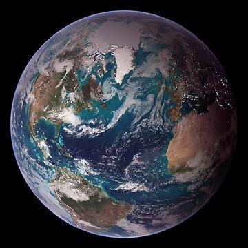 Blue Marble - Western Hemisphere by flashman