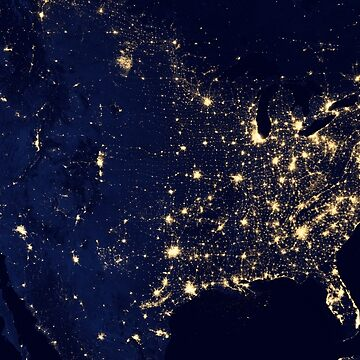 City Lights of the United States by flashman