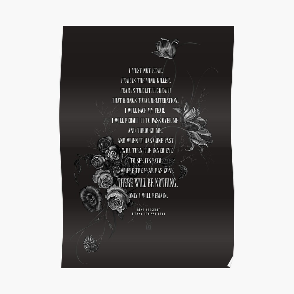 Bene Gesserit Litany Against Fear Poster