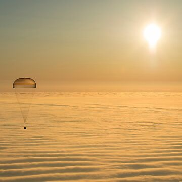 Soyuz Capsule Parachuting to Earth by flashman