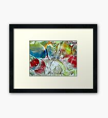 Frosted Glass Framed Print