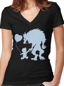 BFF's (dark garment version) Women's Fitted V-Neck T-Shirt