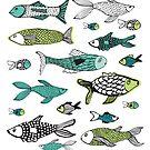 Sea-side ocean fishes by Michelle Walker