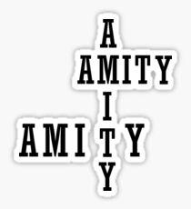 Amity - Black Sticker