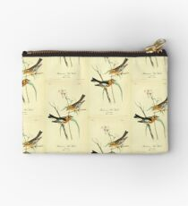 James Audubon Vector Rebuild - The Birds of America - From Drawings Made in the United States and Their Territories V 1-7 1840 - Blackburnian Wood Warbler Zipper Pouch