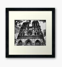Notre Dame in black and white Framed Print