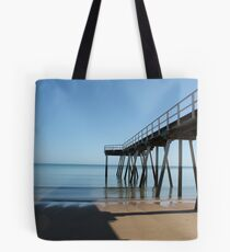 Beach Jetty Harvey Bay Tote Bag