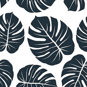 black monstera leaves by demonique
