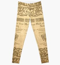 Shakespeare. Much adoe about nothing, 1600 Legging