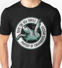 Save the Sea Turtle Shirt Endangered Species gift tee Unisex T-Shirt