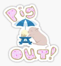 Pig Out! Sticker