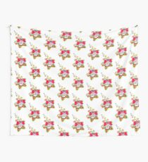 Retro Pink Poochie 80s Wall Tapestry