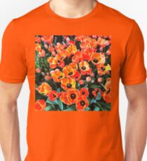 Bright Red Tulips of Istanbul Unisex T-Shirt