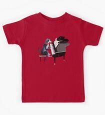 Piano lesson ( Doggy Art )  Camiseta para niños