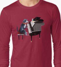 Piano lesson (Doggy Art) Long Sleeve T-Shirt
