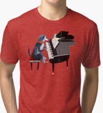 Piano lesson (Doggy Art) Tri-blend T-Shirt