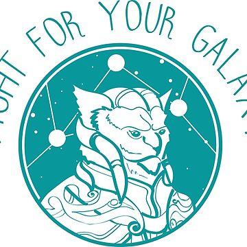 Stellaris Alien 02 Teal by msFiBi