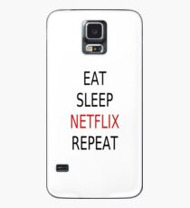 Eat, Sleep, Netflix, Repeat Case/Skin for Samsung Galaxy