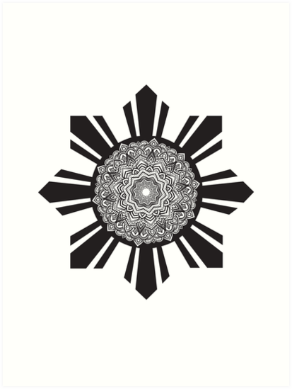 a79a58c952 'Philippine Flag Sun Mandala Pattern ' Art Print by banwa