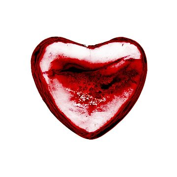 Cracked Red Heart by yvonnecarsley
