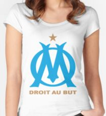 olympique marseille Women's Fitted Scoop T-Shirt