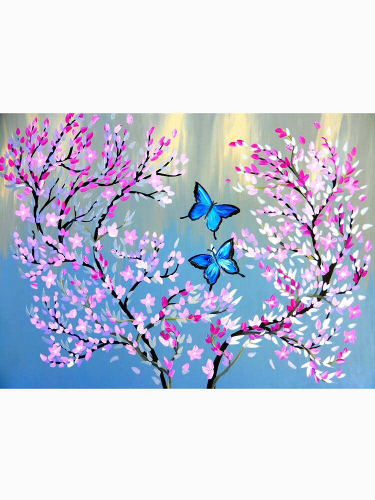 Schmetterlinge und Kirschblütenzweige von cathyjacobs
