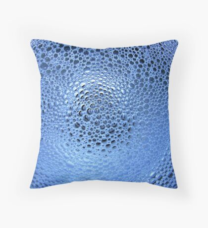 Sink Suds In Blue Throw Pillow