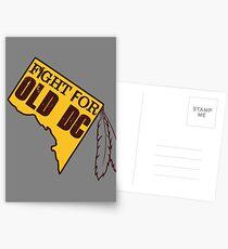 Redskins - Fight for Old DC Postcards