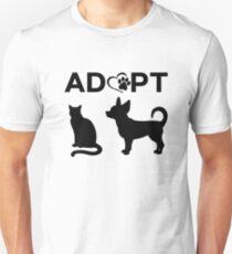 ADOPT Dog Cat Rescue Animals Unisex T-Shirt