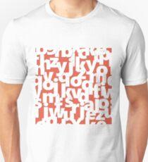 English alphabet. Unisex T-Shirt