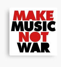 Make Music Not War Canvas Print