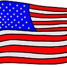 «Bandera estadounidense EE.UU. américa murica rojo blanco y azul» de Statepallets