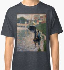 The Bridge - View of the Seine-Georges Seurat Classic T-Shirt