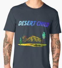 Desert Child t shirt watercolor style Palms Cactus Mountains Men's Premium T-Shirt