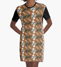 Earth, Wind and Fire Pattern Graphic T-Shirt Dress