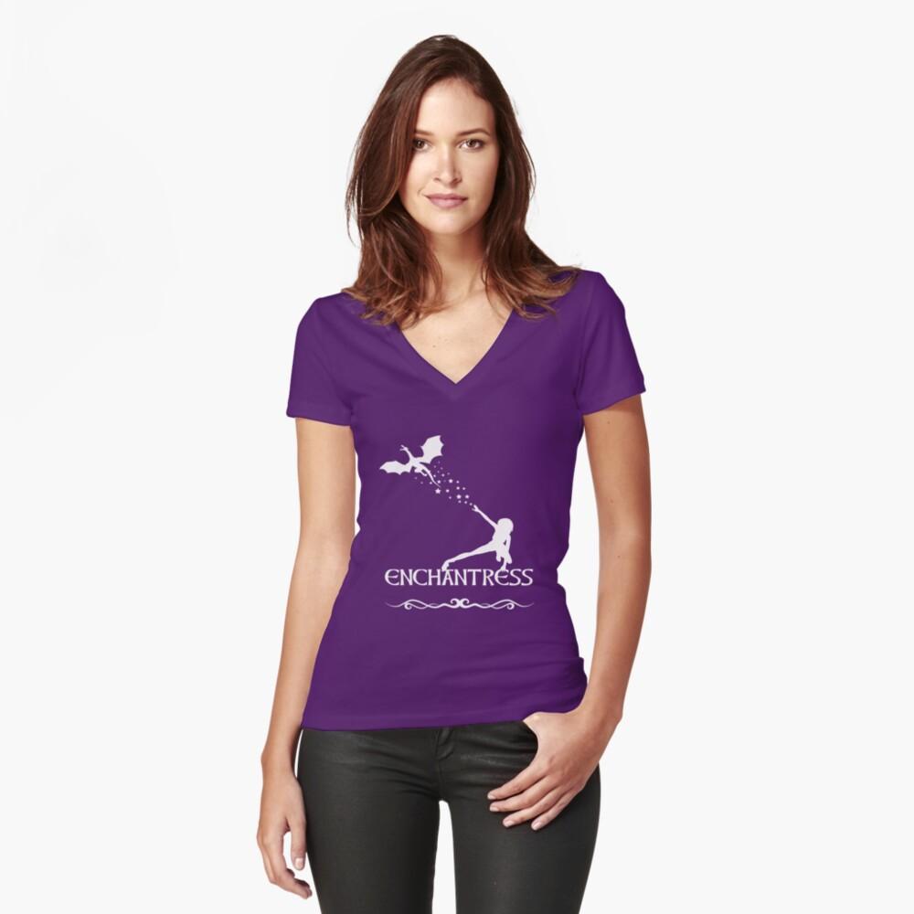 Hechicera Camiseta entallada de cuello en V