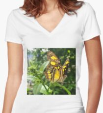 """""""An Angel's Wings"""", Photo / Digital Painting Women's Fitted V-Neck T-Shirt"""