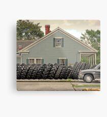 Louisiana Tires Metal Print
