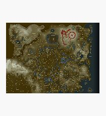 Zelda: Breath Of the Wild Map (item locations) Photographic Print