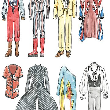BOWIE COSTUMES by flatlaydesign