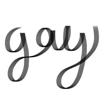 "Cursive Writing - ""Gay"" by starwhale97"
