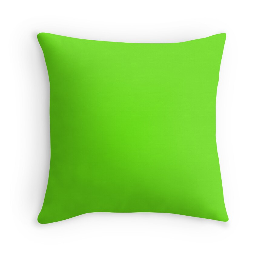 Bright Neon Green Acid Punk Color Of The Day Solid Color