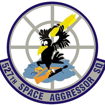 527th Space Aggressor Squadron (527 SAS) Crest by Spacestuffplus